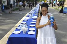 Dawn uses one bottle of dish soap to clean whole town's plates
