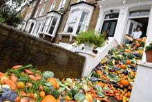 Installation shines light on household food waste