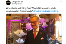 How Paul Feig's Instagram mixology classes inspired a 'Bridesmaids' viewing party.