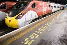 It's a Wonderful Life script painted on platforms for Virgin Trains campaign