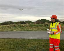 Using drones in site management