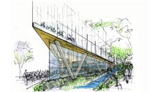 Tree planting, meadows and green SuDS part of BDP-designed proposal for Bio-therapeutics Hub for Innovation