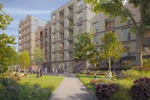 Public park, SuDS and landscaping part of north London development