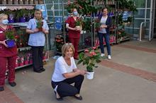 Unsold plants donated to the NHS, carehomes and charities and locals