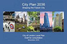 What does the City of London's draft local plan - City Plan 2036 - vision mean for landscape?
