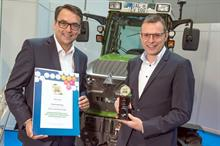 Electric tractor for fruit and wine scoops prize