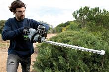 Handheld machines for ornamental hedges