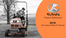 Kubota G21E diesel ride-on mower: kit demo video