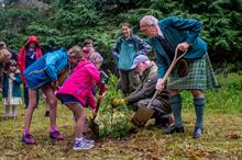Clan Donald Lands Trust 50th year: Endangered conifers planted at Armadale Castle to mark anniversary