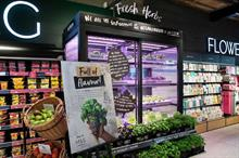 "M&S rolls out in-store fresh herb ""farms"" across London"