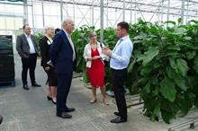 LibDem leader praises tomato glasshouse, warns of no-deal Brexit danger
