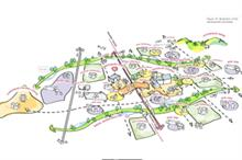 What landscape is planned for the new garden towns?