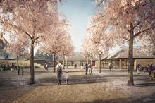How is RHS Garden Wisley's new Welcome Building progressing?