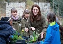 Duchess of Cambridge helps Adam White design Chelsea garden