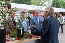 Peter Beales Roses' Ian Limmer launches Felco's new secateurs at Chelsea Flower Show