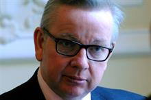 Gove calls for climate change action and pledges plastic producers will pay full recycling cost