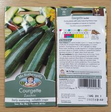 Mr Fothergill's recalls some Courgette Zucchini seeds from ranges