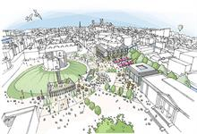 High quality public realm, riverside walkways and pedestrian cycle bridge feature in BDP £30m York masterplan
