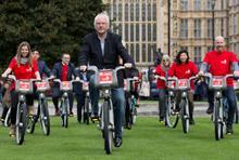 CSV promotes its annual volunteering campaign on 'Boris bikes'
