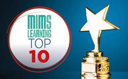 Which topics were most popular with primary care professionals on intelog Learning this year?