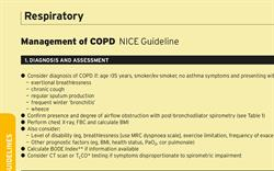 Management of COPD (NICE Guideline)