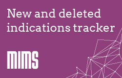New and deleted indications - live tracker