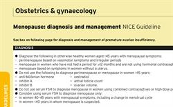 Menopause: diagnosis and management (NICE Guideline)