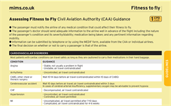 Assessing Fitness to Fly (CAA Guidance)