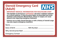 Deadline approaches for new steroid emergency card measures