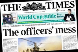 The Times: promotes James Corden's column