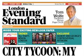 Evening Standard: new name, look and content