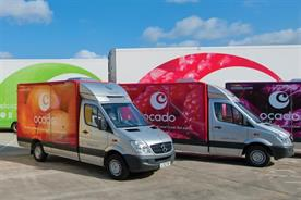 Ocado: sales are up over the quarter compared with 2013