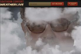 Southern Comfort: latest campaign features the comfortable weather guy site