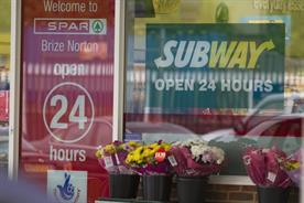 Subway: fast-food chain's outlet at Brize Norton RAF base