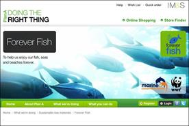 M&S: promoting its Forever Fish campaign