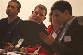 Judges confer at Marketing 4 StartUp Britain