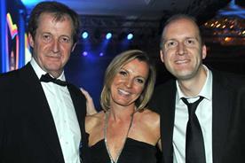Alistair Campbell, Suki Thompson and Pete Markey