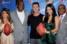 (left to right) Paula Abdul, Frank Cooper (CMO, Global Consumer Engagement, PepsiCo Beverages), Simon Cowell, Nicole Scherzinger, and Antonio 'LA' Reid