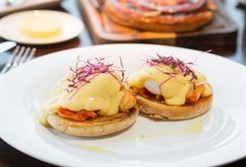 Aqua Shard serves up brunch on weekends, with dishes including this lobster egg benedict on offer