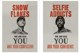 Army 'snowflake' recruitment campaign mocked on Twitter