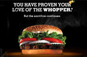 Burger King: Facebook bribe