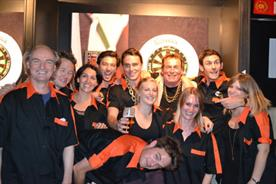 A darts legend... DLKW celebrate with Bobby George