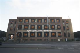 Banks's Beer transforms disused building into an Advent calendar