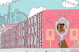 Benefit Cosmetics celebrates female accomplishments with large murals