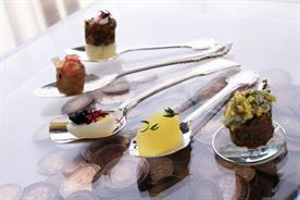 Canapé creations by Banking Hall's Caroline Gardiner and Alan Lucas