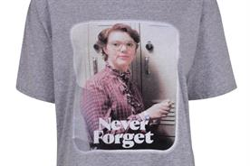 Shannon Purser, who plays Barb and is featured on this Topshop T-shirt, will host the screenings
