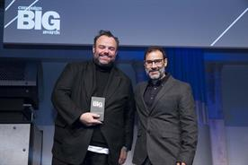 Richard Brim: Adam & Eve/DDB's CCO onstage to pick up the award for John Lewis work