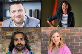 Clockwise from top left: Tim Pearson, Vanessa Kingori, Jenni Evans, Shreyas Sukumar