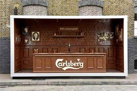 The bar is made entirely of chocolate