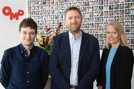 OMD UK: (l-r) Charlie Ebdy, Tim Pearson and managing director Laura Fenton